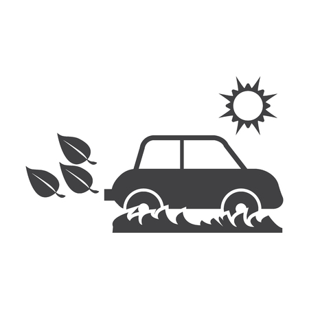 bionomics: car black simple icon on white background for web design
