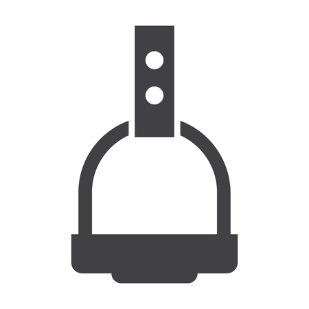 stirrup: stirrup black simple icon on white background for web design
