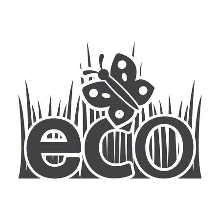 bionomics: grass black simple icon on white background for web design