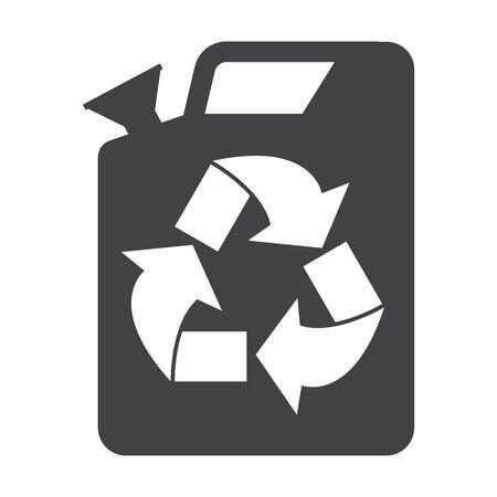 bionomics: jerrycan black simple icon on white background for web design