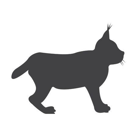 lynx: lynx black simple icon on white background for web design