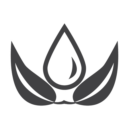 bionomics: blob black simple icon on white background for web design