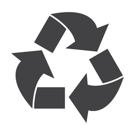 bionomics: arrows black simple icon on white background for web design