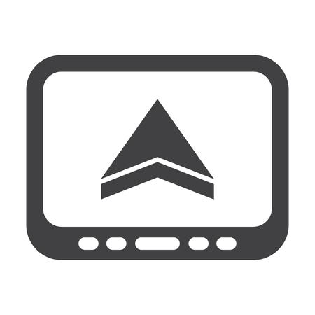 gps navigator: GPS black simple icons set for web design Illustration
