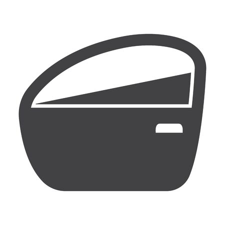 tinting: car door black simple icon on white background for web design