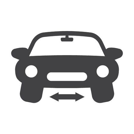 calibration: wheel calibration black simple icons set for web design