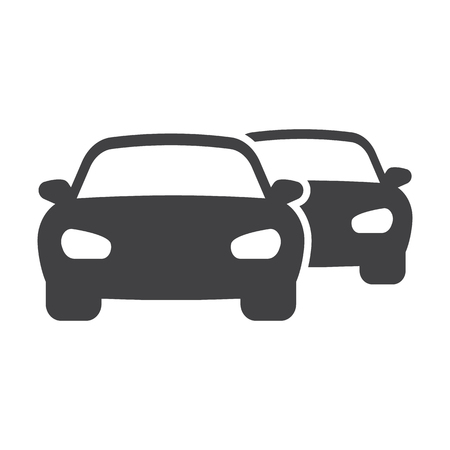 the traffic jam: traffic jam black simple icons set for web design