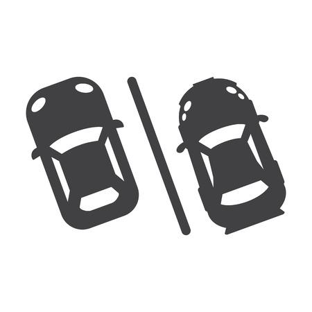 aparcamiento negro simple icono en el fondo blanco para el diseño web