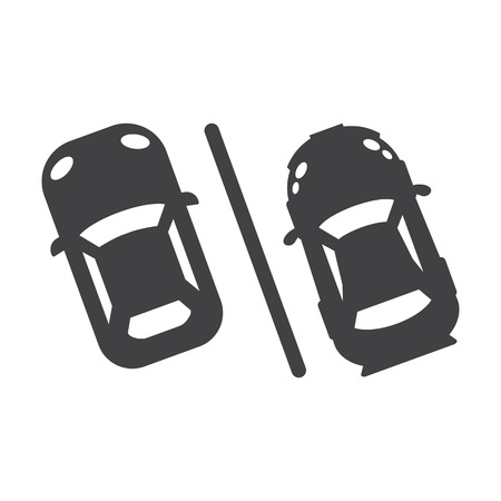 car parking black simple icon on white background for web design