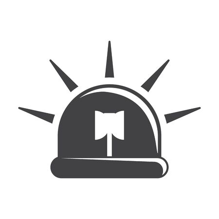 urgently: siren black simple icons set for web design