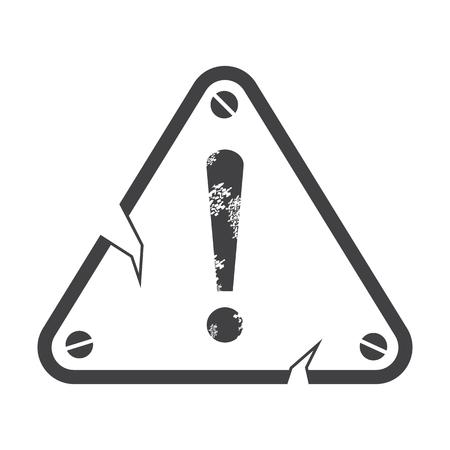warning: warning plate black simple icons set for web design