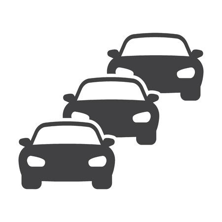 traffic jam black simple icons set for web design