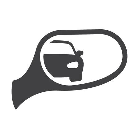 mirror: car mirror black simple icons set for web design Illustration