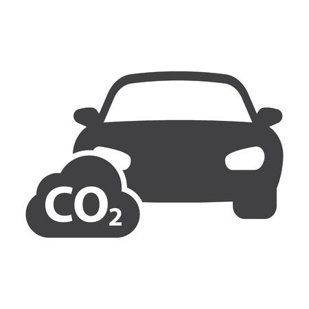 fuel: car co2 black simple icons set for web design