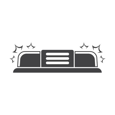 urgently: siren black simple icon on white background for web design Illustration