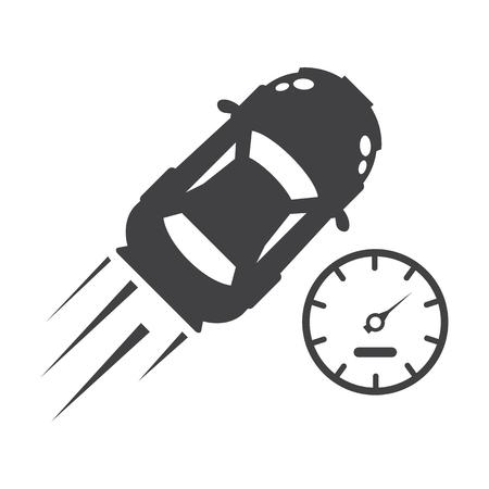 compteur de vitesse: icônes simples noir tachymètre fixés pour la conception web