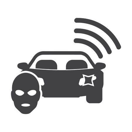 gunman: car signaling black simple icons set for web design