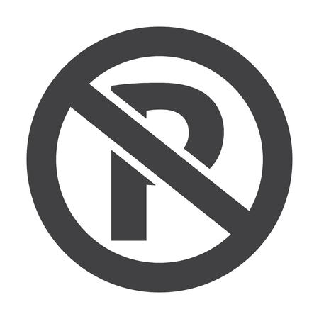 parking car: parking black simple icons set for web design