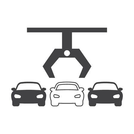 scrap: car plant black simple icon on white background for web design