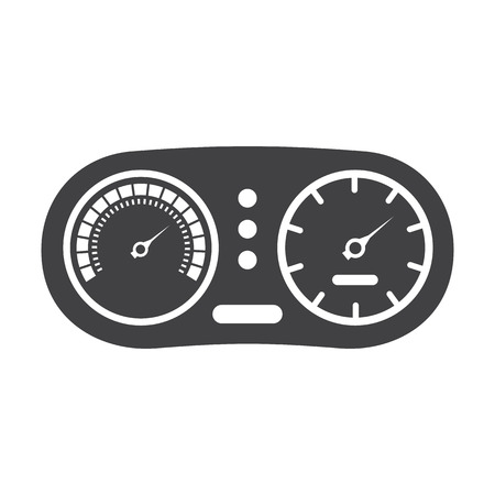 instrument panel: instrument panel black simple icon on white background for web design