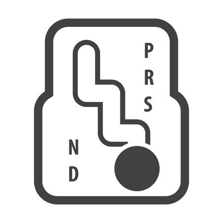 auto versnellingsbak zwarte eenvoudige pictogrammen voor web design