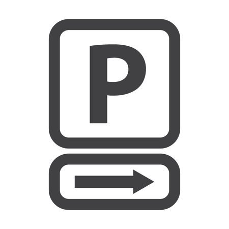 parking: parking black simple icon on white background for web design