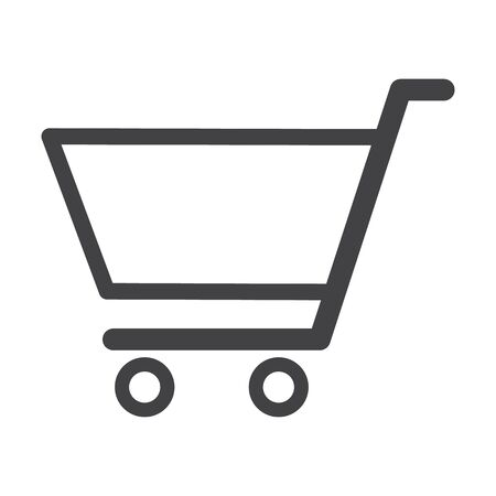 cart: shop cart black simple icon on white background for web design Illustration
