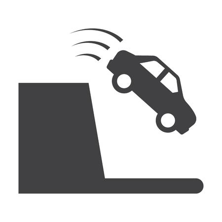 precipice: precipice black simple icon on white background for web design Illustration