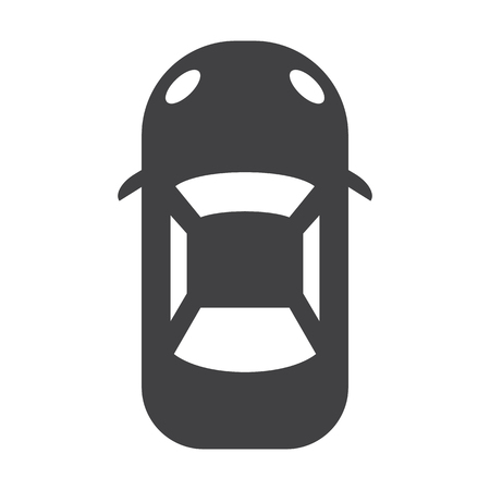 headlights: car black simple icon on white background for web design