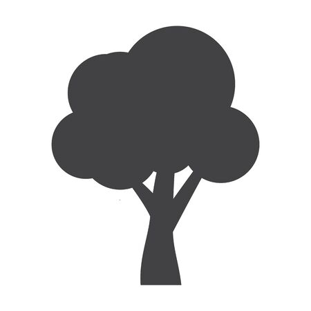 tree isolated: tree black simple icon on white background for web design