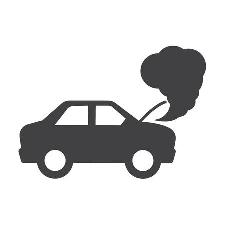 car crash simples iconos negros fijaron para el diseño web