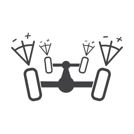 calibration: wheel calibration black simple icon on white background for web design