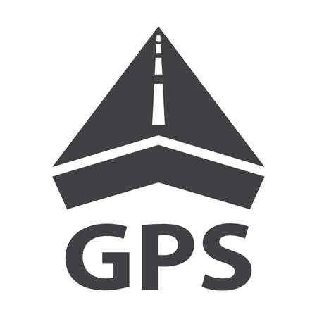 GPS black simple icons set for web design 向量圖像