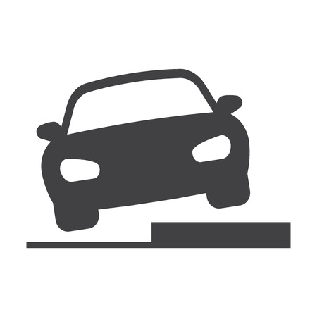 ascent: Hurdle car black simple icons set for web design Illustration