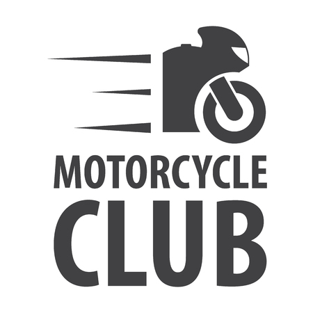 headlights: motorcycle club black simple icons set for web design