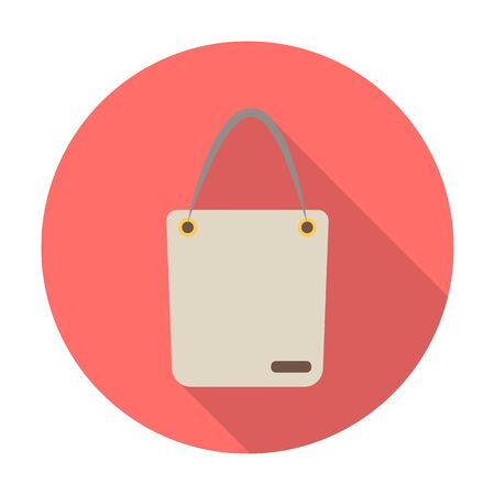 pouch flat icon with long shadow for web design