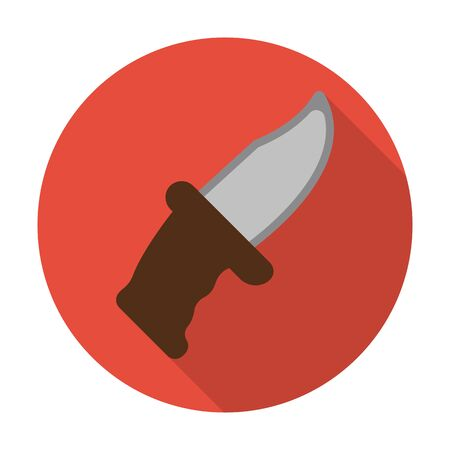 agricultura: knife flat icon with long shadow for web design Illustration