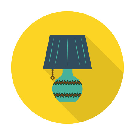 reading lamp: lamps flat icon with long shadow for web design
