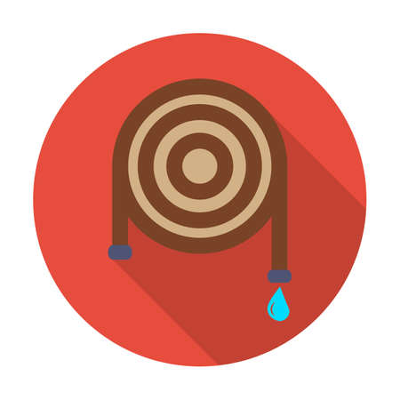 tip style design: hose flat icon with long shadow for web design