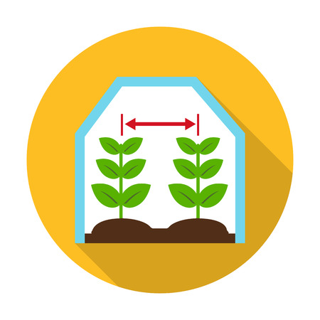 greenhouse: greenhouse flat icon with long shadow for web design