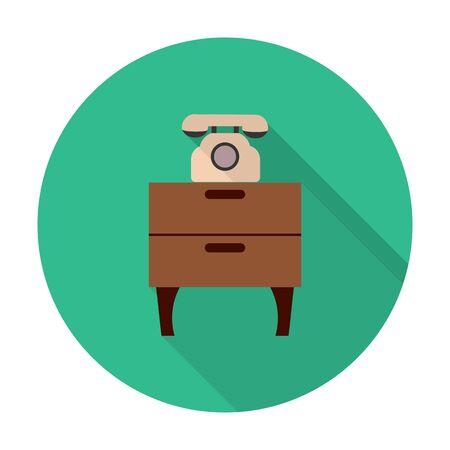 dresser: dresser,phone flat icon with long shadow for web design Illustration