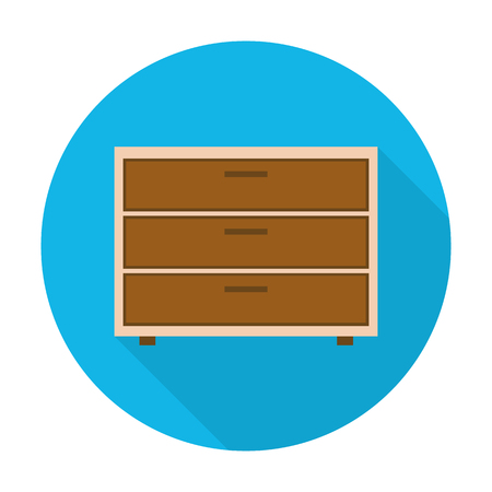 commode: commode flat icon with long shadow for web design