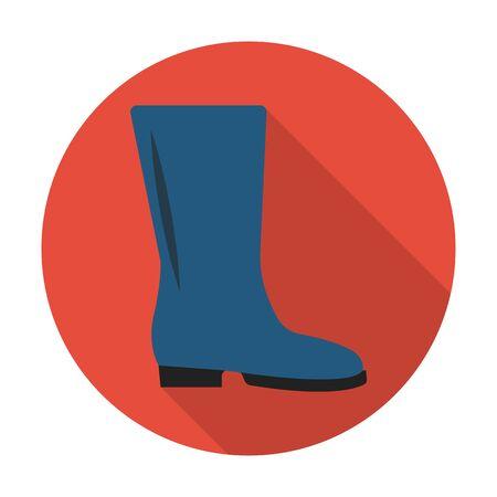 boots: botas icono plana con una larga sombra para el dise�o web Vectores