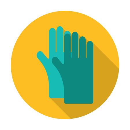 guantes: guantes icono plana con una larga sombra para el dise�o web