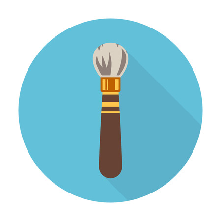 brush flat icon with long shadow for web design