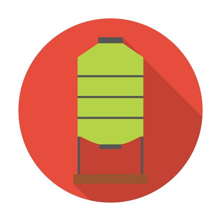 agricultura: tank flat icon with long shadow for web design Illustration