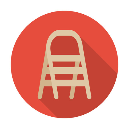 agricultura: ladders flat icon with long shadow for web design Illustration