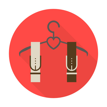 belts: belts flat icon with long shadow for web design