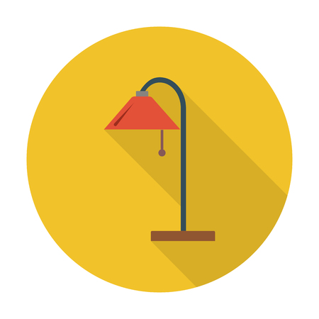 lampshade: floor lamp flat icon with long shadow for web design