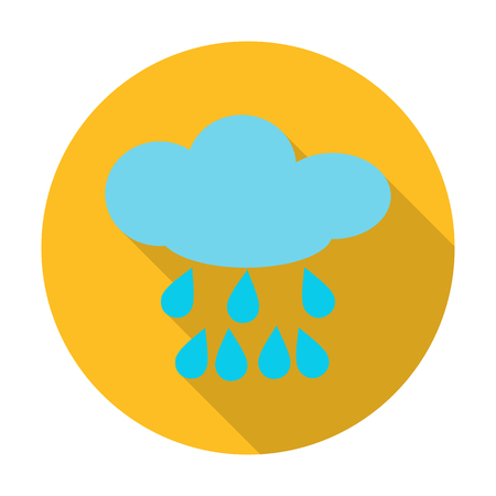 agricultura: cloud flat icon with long shadow for web design